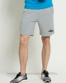 Чоловічі шорти Umbro, чоловічі шорти Умбрії, спортивні шорти, брендові шорти чоловічі сірі