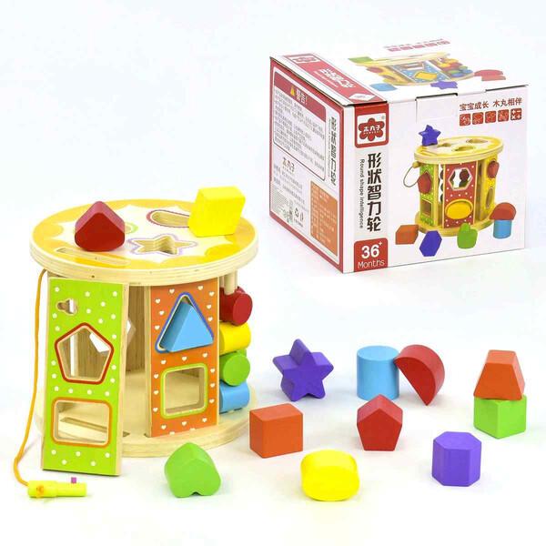 Дитячий дерев'яний Сортер Геометричні фігури Розвиваючі іграшки для малюків (22353)