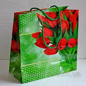 """Подарочный пакет """"Тюльпаны"""""""