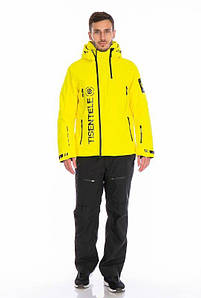 Мужской горнолыжный костюм WHS желтый TISENTELE