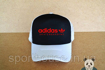 Спортивна кепка Adidas, Адідас, тракер, річна кепка, унісекс, білого і чорного кольору (копія)