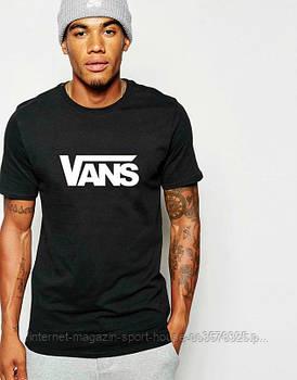 Чоловіча футболка Vans,чоловіча футболка Ванс, спортивна, брендовий, бавовна, чорна, розміри: ХС-ХХХЛ
