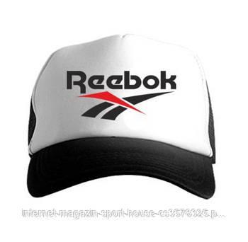 Спортивна кепка Reebok, Рібок, тракер, річна кепка, чоловічий, жіночий,чорного й білого кольору, копія