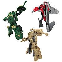 Игровой набор X-bot - РОБОТ-ТРАНСФОРМЕР (15 см), ТАНК (зеленый), САМОЛЕТ, ТАНК (бежевый)