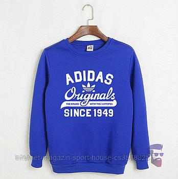 Спортивна кофта Adidas, Адідас, світшот адідас, трикотаж, чоловічий, блакитного кольору, копія