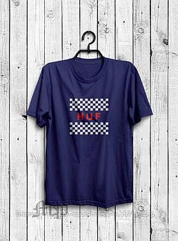 Чоловіча футболка Huf,чоловіча футболка Гуф, спортивна, брендовий, бавовна, синя, розміри: ХС-ХХХЛ