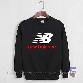 Спортивна кофта New Balance, Нью Беланс, світшот, трикотаж, чоловічий, чорного кольору, копія