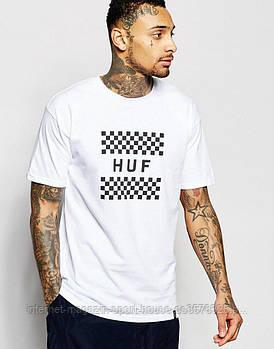 Чоловіча футболка Huf,чоловіча футболка Гуф, спортивна, брендовий, бавовна, білий, розміри: ХС-ХХХЛ
