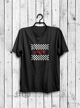 Чоловіча футболка Huf,чоловіча футболка Гуф, спортивна, брендовий, бавовна, чорна, розміри: ХС-ХХХЛ