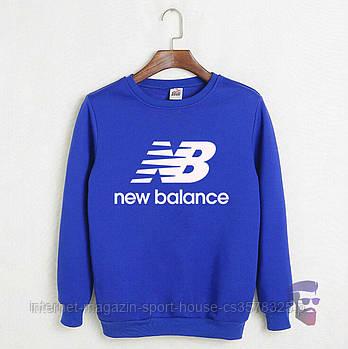 Спортивна кофта New Balance, Нью Беланс, світшот, трикотаж, чоловічий, блакитного кольору, копія