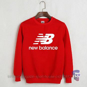 Спортивна кофта New Balance, Нью Беланс, світшот, трикотаж, чоловічий, червоного кольору, копія