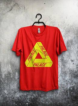 Мужская хлопковая футболка Палас (Palace) с брендовым логотипом, реплика красная
