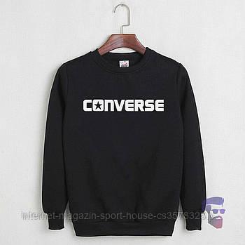 Спортивна кофта Converse, Конверсе, світшот, трикотаж, чоловічий, чорного кольору, копія