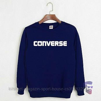 Спортивна кофта Converse, Конверсе, світшот, трикотаж, чоловічий, синього кольору, копія