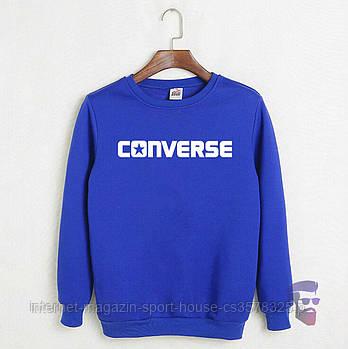 Спортивна кофта Converse, Конверсе, світшот, трикотаж, чоловічий, блакитного кольору, копія