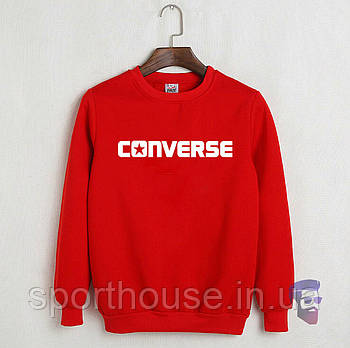Спортивна кофта Converse, Конверсе, світшот, трикотаж, чоловічий, червоного кольору, копія