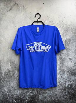 Чоловіча футболка Vans,чоловіча футболка Ванс, спортивна, брендовий, бавовна, синя, розміри: ХС-ХХХЛ