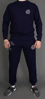 Чоловічий спортивний костюм Anti Social Social Club чорний (люкс копія)