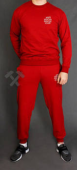 Чоловічий спортивний костюм Anti Social Social Club червоний (люкс копія)