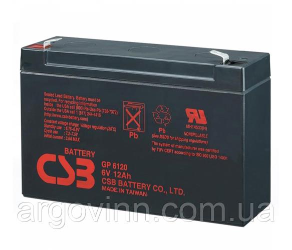 Акумулятор CSB GP6120, 6V 12Ah (150 x 50 x 95 (100) Q10