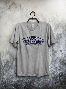 Чоловіча футболка Vans,чоловіча футболка Ванс, спортивна, брендовий, бавовна, сіра, розміри: ХС-ХХХЛ