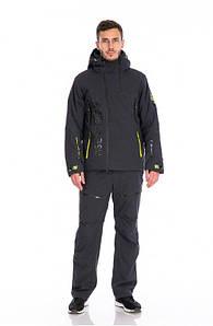 Чоловічий гірськолижний костюм WHS темно-сірий TISENTELE
