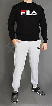 Мужской спортивный костюм Фила (Fila) реглан и штаны (на любой сезон), реплика  серый