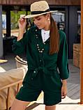 Однотонный  костюм  из рубашки и шорт ЛЕТО, фото 5