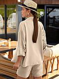 Однотонный  костюм  из рубашки и шорт ЛЕТО, фото 3