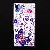 Чехол силиконовый Ультратонкий со стразами Butterfly для Sony Xperia Z3 Plus Z4