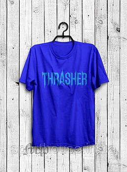 Чоловіча футболка Thrasher, чоловіча футболка Трешер, спортивна, брендовий, синя, копія