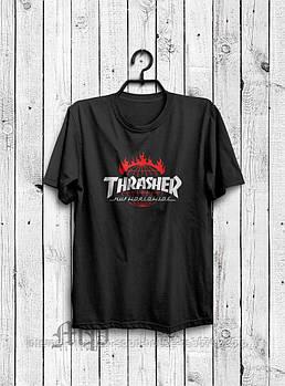 Чоловіча футболка Thrasher, чоловіча футболка Трешер, спортивна, брендовий, чорна, копія