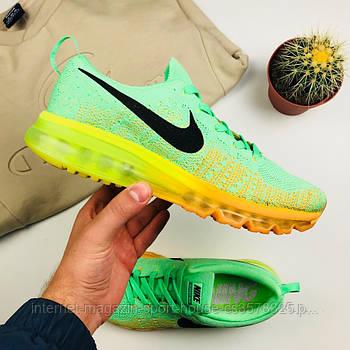 "Мужские кроссовки Nike Air Flyknit Max 2014 ""Orange/Green"" (копия)"