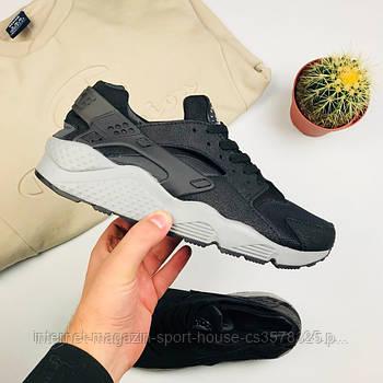 """Мужские кроссовки Nike Air Huarache """"Black/Gray"""" (копия)"""