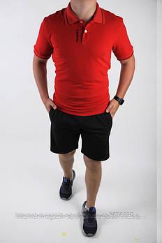 Чоловічий комплект поло/футболка і шорти Рібок (Reebok), поло і шорти Reebok,чоловіча теніска, копія