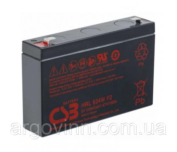 Акумулятор CSB HRL634WF2, 6V 9Ah (151х34х99мм Q10