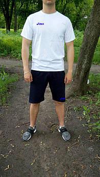 Чоловічий річний комплект футболка і шорти Асикс (Asics), футболки та шорти Турейкий трикотаж, копія
