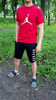 Трикотажный комплект футболка и шорты Джордан (Jordan) мужской, реплика