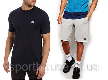 Чоловічий річний комплект футболка і шорти Умбрії (Umbro), футболки та шорти Турейкий трикотаж, копія