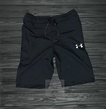 Мужские летние спортивные шорты Андер Армор (Under Armour), отличного качества, реплика черные