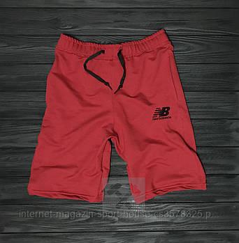 Мужские летние спортивные шорты Нью Беланс (New Balance), отличного качества, реплика красные
