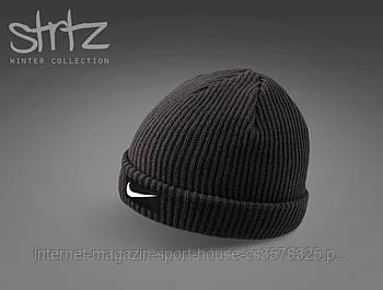 Шапка Nike чорного кольору (люкс копія)