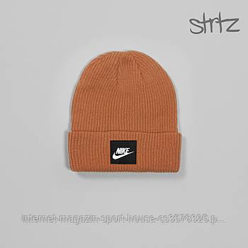 Шапка Nike оранжевого кольору (люкс копія)