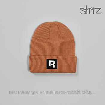 Шапка Reebok оранжевого кольору (люкс копія)