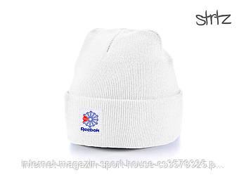 Шапка Reebok білого кольору (люкс копія)