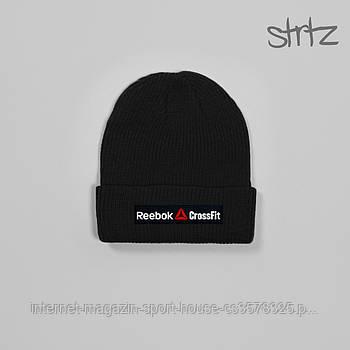 Шапка Reebok чорного кольору (люкс копія)