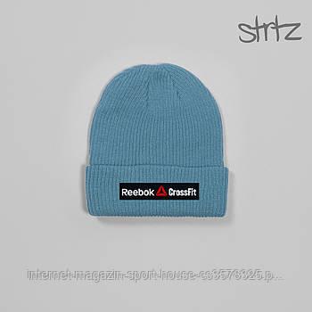 Шапка Reebok блакитного кольору (люкс копія)