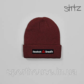 Демисезонная акриловая шапка Рибок (Reebok), теплая, реплика