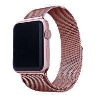 Ремешок металлический миланская петля розовый Apple Watch браслет металлический 42/44 мм Разные цвета