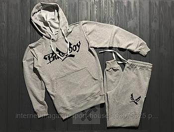 Спортивний костюм Bad Boy сірого кольору (люкс копія)